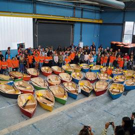 Den Haag laat kinderen echte vloot bouwen met BouwJeBootje voor Volvo Ocean Race.
